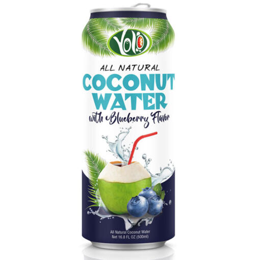 Coconut water with blueberry